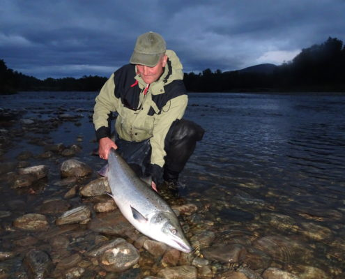 10.9 kg Salmon for Ole. Caught on the Big Black Bear 12cm